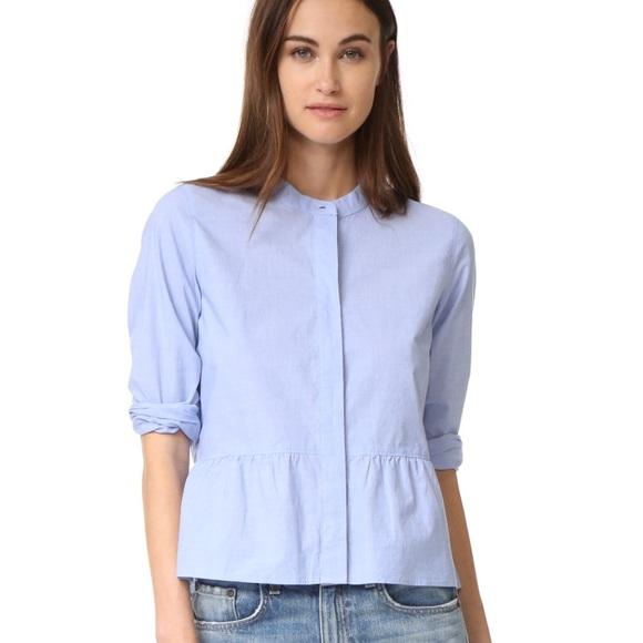 8ae46b8bdac36a Madewell Tops | Peplum Buttonup Shirt | Poshmark